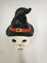 Wholesale Cold Ceramic Skull Figurine with High Hat