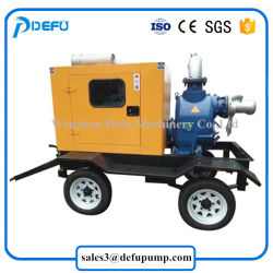 China Supplier Movable Self Suction Diesel Engine Slurry Pumps with Trailers