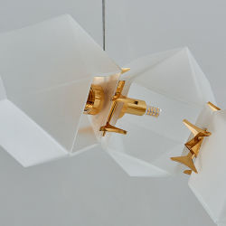 Post Modern Living Room Restaurant Bar Metal Glass Pendant Lamps