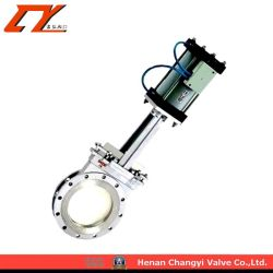 Pneumatic Operated Ceramic Knife Gate Valve