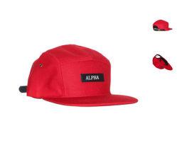 7b20baf6 Black Genious Leather Strap Back 5 Panels Cotton Camper Cap Hat