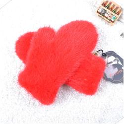 Lace Bridal Gloves Lady's Short Leather Mittens Mink Fur Gloves