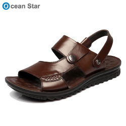 e9d9b7573093d 2019 Summer Men s Dual-Use Cowhide Sandals Casual Genuine Leather Slippers  for Men