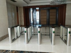 TCP/IP Fast Pass Auto Security Speed Lane Turnstile with RFID Reader