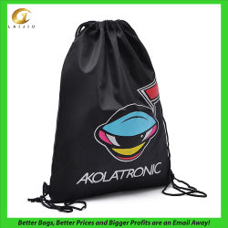 Custom Polyester Drawstring Promotional Sports Backpack Gym Bag
