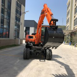 China Factory Directly Mini Wheel Excavators for Sale