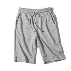 Men's Jersey Short with Pockets Solid Cotton Workout Running Sports Shorts for Men