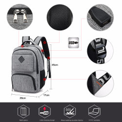 USB Charging Port Tactical Travel Laptop Sports USB Backpack
