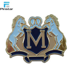 High Quality Custom Soft Enamel Red Running Horse Gold Plated Lapel Pin Badge