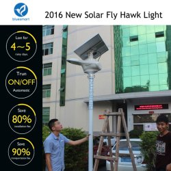 Factory Direct Solar Integrated LED Street Lamp Garden Products with Remote Control
