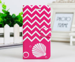 Colourful Chevron Sailor Anchor Flip PU Leather Case for Samsung S5