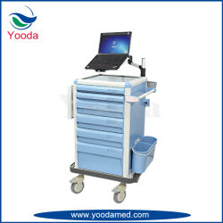 Hospital Workstation Cart with Drawers