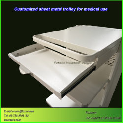 Sheet Metal Fabrication Medical Trolley Customized for Hospital Equipment