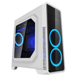 Gaming Case G561 White Comine with 1xusb3.0 and Top PSU Housing Covered