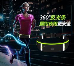 Custom Print Design Outdoor Sports Running Fanny Pack Mobile Cellphone Multi Function Waterproof Reflective Nylon Mini Waist Bag