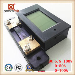 DC 6.5-100V 50A/100A 4in1 LCD Voltage Ammeter Power Energy Digital Meter