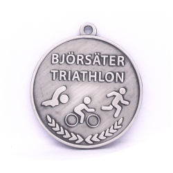 Antique Silver 3D Stamping Triathlon Medal Gift Factory for Sale Presentation Box