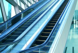 High Strength Metal Structure Slim Type Escalator