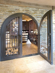 Modern High Quality Single Wine Cellar Wrought Iron Door