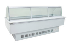 SD150 Supper Market Curved Use Frozen Food Display Cabinet Showcase