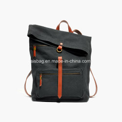 New Trendy Canvas Foldover Backpack Old-School Army Surplus Bags