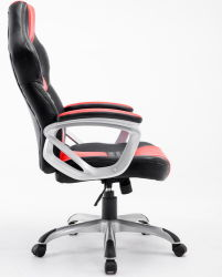 Racing Office Chair Sliver Arm Gaming Car Chair Bucket Seat