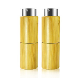 10ml Cosmetic Packaging Bamboo Perfume Bottle with Pump Sprayer