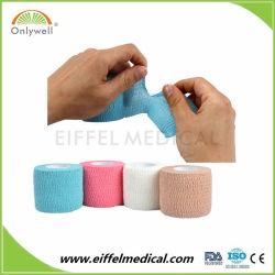 Sports Protection 2.5cm*4.5m Cotton Elastic Gauze Self Adhesive Cohesive Bandage