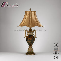 Modern Metal Brass Classic Table Lamp for Reception Counter