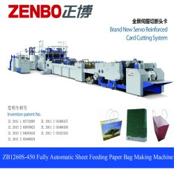 Sports Shoe Carry Paper Bag Making Machine Zenbo Fully Automatic
