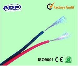 2c*0.5mm2~4.0mm2 Bc/CCA/CCS/Al Transparent Speaker Cable+Yellow Line