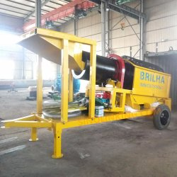 Small Screening Plant with Slucie Box Uses Separate Gold