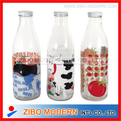 Glass Milk Bottles Wholesale Juice Milk Glass Jug