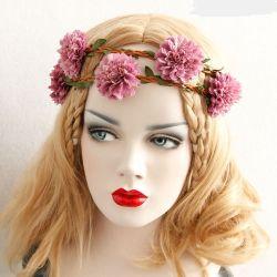 Hair Accessories Factory Wholesale Girls Artificial Flower Crown Headband