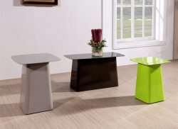 Living Room Painted Steel Side Table