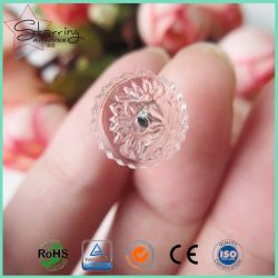Wholesale 17mm Long Shank Upholstery Plastic Clear Head Stainless Steel Bedskirt Twist Pin