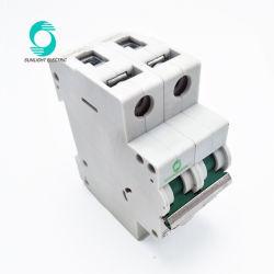Top Quality Sunlight XL7-63 Circuit Breaker DC 2p 10A 500V Mini Electrical MCB
