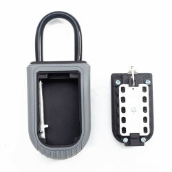 Button Digit Mounted Storage Safe Key Box with Shackle