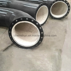Abrasion Resistant 90 Degree Elbow Pipe Lined Steel