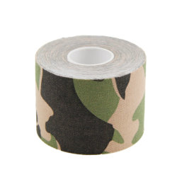 Ce FDA Approved Custom Design Camo Printed Sports Muscle Support Tape Pain Relief Kinesiology Tape for Athletes