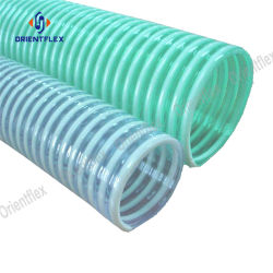 Transparent Flexible PVC Plastic Corrugated Helix Suction Discharge Hose
