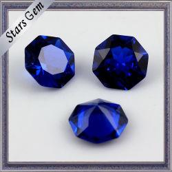 Special Shape Deep Blue Sapphire Syntetic Gemstone