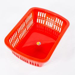 Factory Wholesale Red Color No. 9 HDPE Plastic Nestable Kitchen Sink Strainer for Food
