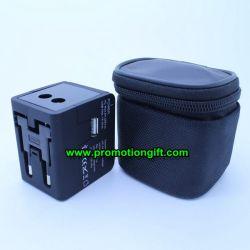 Universal USB plug travel adapter