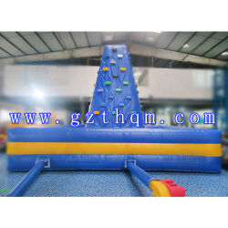 Outdoor Air Rock Mountain Inflatable Climbing Walls/Inflatable Sports Rock Climbing Wall