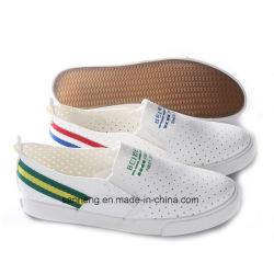 97ea986fc54 No Lace White Punch Hole Micro-Fiber Rubber Plimsolls Women Shoes