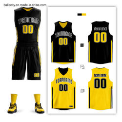 Sportswear Gear Number and Name Team Club Sublimation Basketball Jerseys
