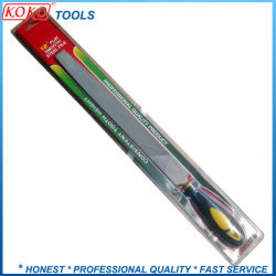 Single Double Blister Packing Flat Machinist Steel File with Plastic Handle