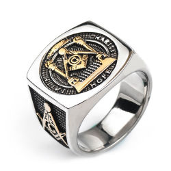 Fashion Men's Gift Retro Jewelry Stainless Steel Punk Ring