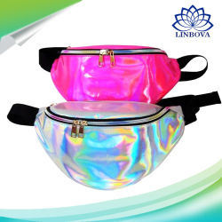 Fashionable Outdoor Travel Bag Sports Running Laser Waist Bag Waterproof Transparent Waist Belt Pack Promotional Gift Women Bag
